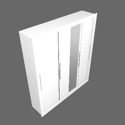 Guarda-Roupa Casal com Espelho Astor 3 PT 4 GV Branco - Carraro Móveis