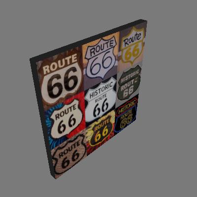 Quadro Rota 66 Uniart Colorido 45x45cm - Uniart
