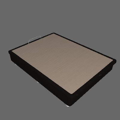 Base para Cama Box Casal Physical com Baú (25x138x188) Preta - Ortobom