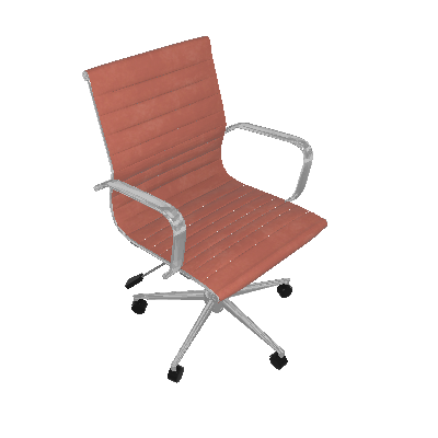 Cadeira de Escritório Secretária Sevilha II Estofada Marrom Claro