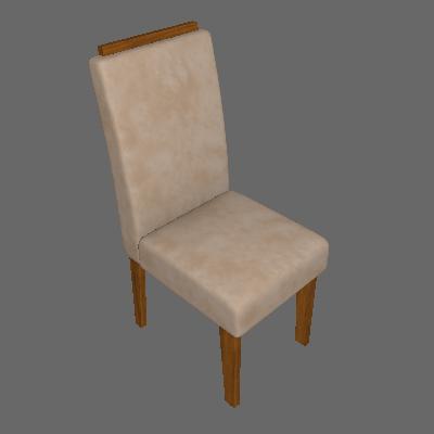 Conjunto com 2 Cadeiras de Jantar Milena Suede Savana e Caramelo - Cimol