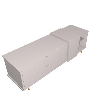 Rack Ipanema Cinza 150 cm - Falkk