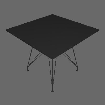Mesa de Jantar Quadrada Eiffel Wood l Preta 90 cm - New Green