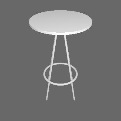 Mesa Bistrô Redonda Bréscia Branca e Cromado - Pozza