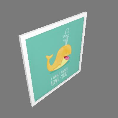 Quadro Baleia Pequeno (3245BAW)