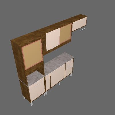 Cozinha Compacta Ágata 8 PT 4 GV Ypê e Off White - CHF Móveis