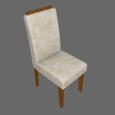 Conjunto com 2 Cadeiras de Jantar Milena Suede Savana e Bege - Cimol