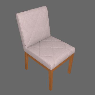 Conjunto com 2 Cadeiras de Jantar Losan Cinza e Castanho - Legnoart