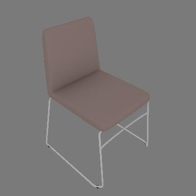 Cadeira Paris Suede Bege - Daf