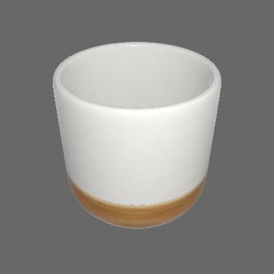 Vaso Cerâmica Nature Pequeno Branco (89875086)