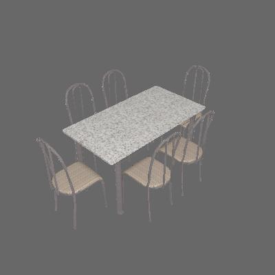 Conjunto de Mesa Primavra com 6 Cadeiras Craqueado Preto Rattan - Artefamol