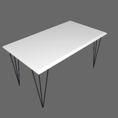 Mesa de Jantar Retangular Elen Branca 140 cm - New Green