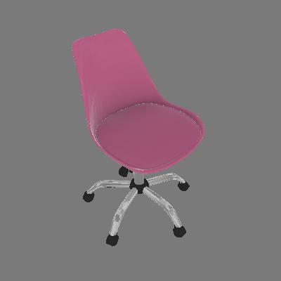 Cadeira de Escritório Eames Rosa - Mobly