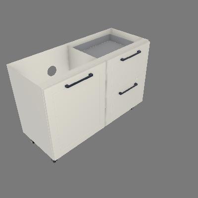 Gabinete 01 Porta 02 Gavetas Com 01 Gav Interna sem Tampo (GM120-1P-2G-1GI-ST)