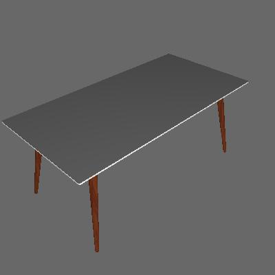 Mesa de Jantar Retangular Juliana Off White e Marrom Escuro 180 cm - Artesano