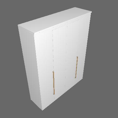 Guarda-Roupa Casal com Espelho Originale 4 PT 3 GV Branco - Belmax