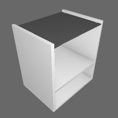 Conjunto com 2 Mesas Laterais Retangulares Kenzo Branco Fosco - KNR Móveis