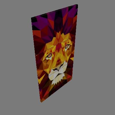 Quadro Decorativo Leão Estampado - Uniart