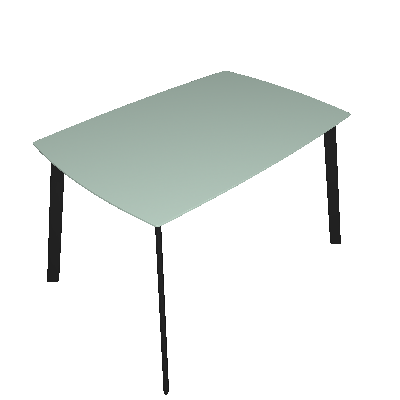 Mesa de Jantar Retangular Mossô Incolor e Preta 120 cm