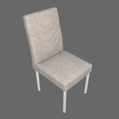 Conjunto com 2 Cadeiras de Jantar Pitty Veludo Bege - Mobly
