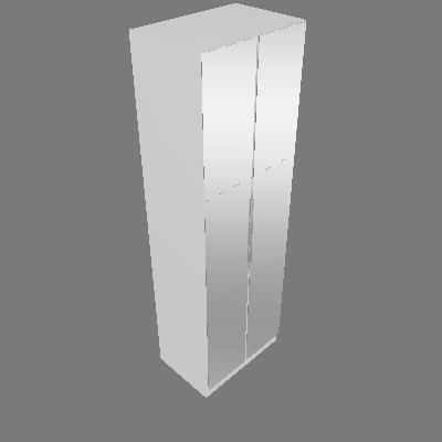Módulo Alt 2550mm Larg 800mm 02 Pt. 03 Gav. com Espelho (CBP615)