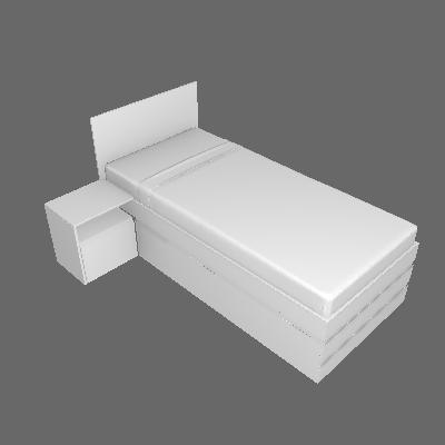 Cama Solteiro Comfort Branca - Inter Link
