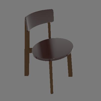 Cadeira Lina Cacau e Bordô - Maxima