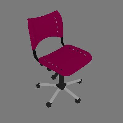 Cadeira de Escritório Secretária Giratória Evidence II Cromada e Rosa - Absolut