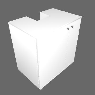 Gabinete Asti para Banheiro com Portas Branco - Politorno