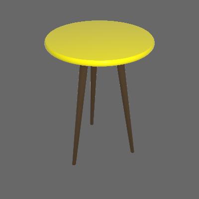 Mesa Bistrô Redonda Toka Castanho e Amarela 75 cm - Uvim