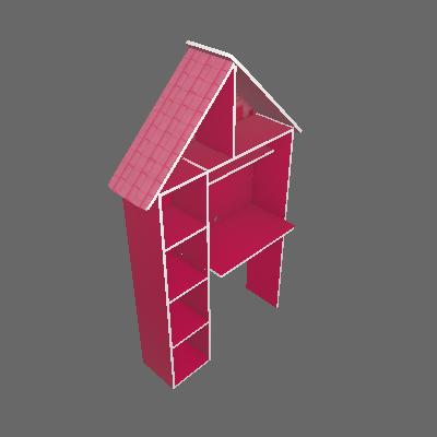 Escrivaninha Infantil Casinha Rosa - Gelius Móveis