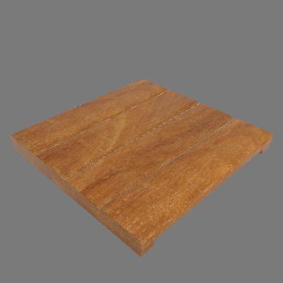 Mini Deck Modular de Madeira Ipê/Champanhe 40x40cm Keywoods (89267661)