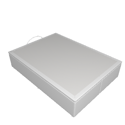 Base Para Cama Box Casal Marfim com Baú Branco - Ortobom