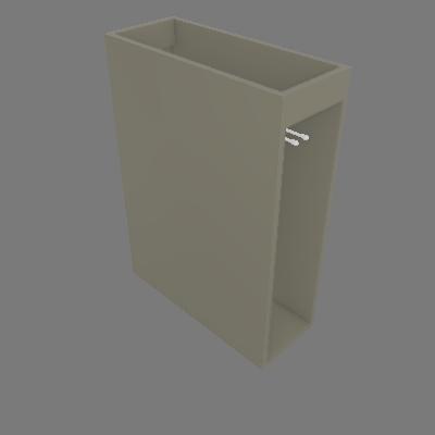 Balcão Porta Toalha 200 mm - Esq (C65)