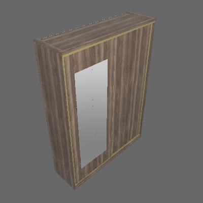 Módulo 2 Portas de Correr com Espelho (1572)