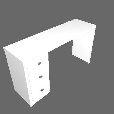 Mesa de Escritório Retangular 3 Gv Reversível Branca - Tecnomobili