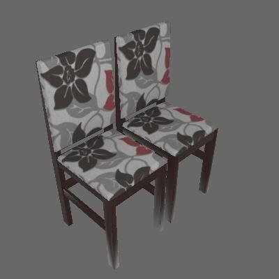 Conjunto 2 Cadeiras Estofada 2012 Tabaco Com Floral - Zamarchi