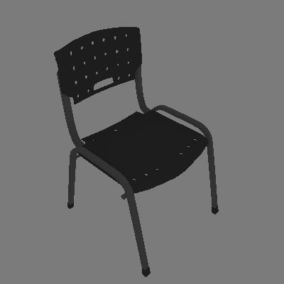 Cadeira de Escritório Londres Fixa Preta Fabone - Fabone