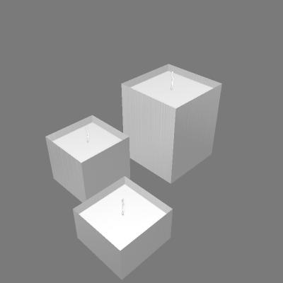 Conjunto de Velas Quadradas