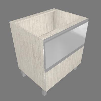 Balcão 70cm 01 Gaveta e 01 Porta Basculante de Vidro Mini Boreal