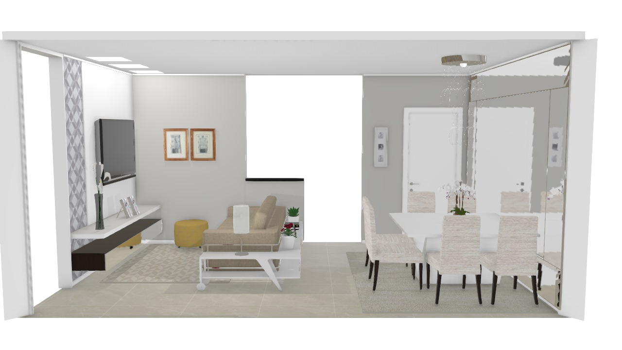 3 Salas integradas pequenas - Graziela Lara