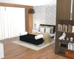 Projeto - Quarto com destaques em madeira