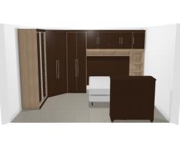 Quarto mobilhado (cabideiro+calceiro+ gavetas)