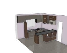 cozinha cobre metálica e fendi