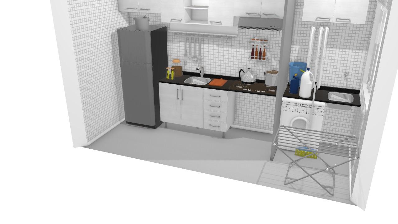 cozinha em uso