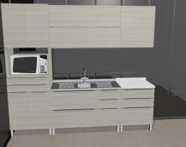 Cozinha Modulada Completa 5 Módulos Versatti Nacre - Kappesberg