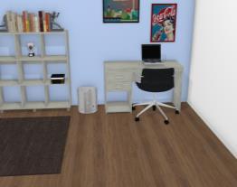 Conjunto para Escritório com Mesa para Computador/Escrivaninha e Estante Ártico - Politorno
