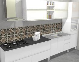 Cozinha Clarice Vermelha - Branco