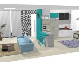 Projeto casa ,com detalhes coloridos