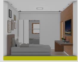 Projeto quarto Eléa-painel com piso vinílico madeirado